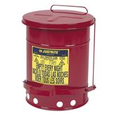 Oily Wastecan, Lead-free, 6 Gallon Capacity, 11-7/8&quot;x15-7/8&quot;
