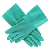 "Nitrile Unlined Glove, Size 10, 12""L, .015 Mil Thick, Green"