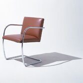 Brno Tubular Armchair with Thin Cushion by Mies Van Der Rohe