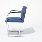 Brno Flat Bar Armchair with Arm Pad by Mies Van Der Rohe