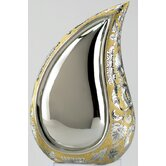 Silver / Gold TearDrop Large / Adult Brass Urn