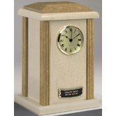 Clock Tower Deluxe Two-Tone Natural Marble Large / Adult Urn in Cream and Earth Grain