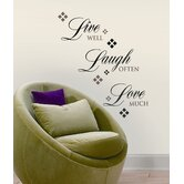 Live, Love, Laugh Peel and Stick Wall Decal