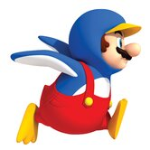 Penguin Mario Peel and Stick Giant Wall Decal
