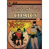Batman with Robin Peel and Stick Comic Cover Wall Decal