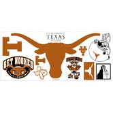 University of Texas Peel and Stick Giant Wall Decal wHooks