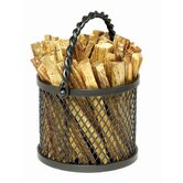 Wrought Iron Twisted Rope Fatwood Caddy