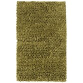 Solid Wool Shaggy Sage Rug