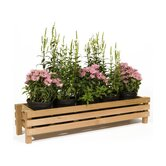 Horizontal Slotted Cedar Planter