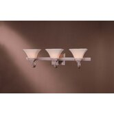 Agilis  Vanity Light in Brushed Nickel