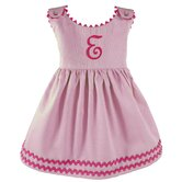 Garden Princess Pique Dress in Light Pink with Hot Pink Trim