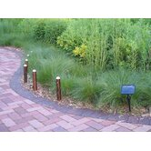 Sentinella Set of Six Copper Finished PIR Bollard Lights