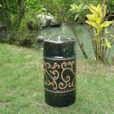 "9"" Etruscan Ceramic Garden Torch"