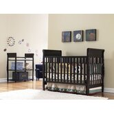 Sarah Classic Two Piece  Convertible Crib Set in Espresso