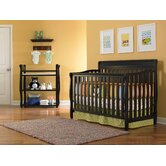 Stanton Two Piece Convertible Crib Set in Black