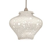 Seraphim Flexrail1 Pendant with White Glass Shade