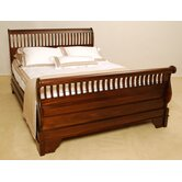 James Slatted Sleigh Bed Frame