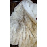 Cougar Faux Fur Throw Blanket with Silky Soft White Faux Fur Lining