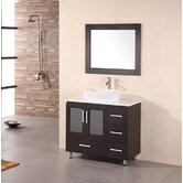"Milan Stanton 36"" Modern Vanity with Vessel Sink"