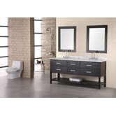 London 72&quot; Double Sink Vanity Set