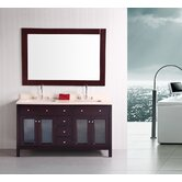 "Venetian 60"" Double Sink Bathroom Vanity"
