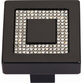 Boutique Crystal Square Inset Knob