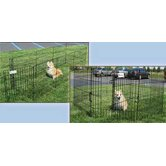DreamZone Exercise Pen with Door in Black