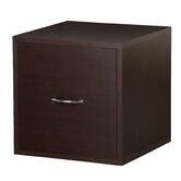 Modular Storage Cube with File Drawer in Espresso