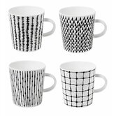 Bono Mugs with Handle (Set of 4) by Catharina Kippel
