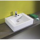 Universal 23.6&quot; Casual Ceramic Bathroom Sink in White