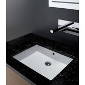 Area Boutique Cubic Bathroom Sink in White