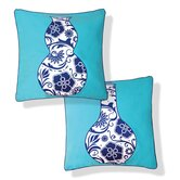 Blue Vases Reversible Pillow