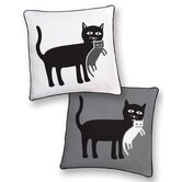 Cat and Kitten Reversible Pillow