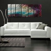 "Abstract by Ash Carl Metal Wall Art in Gray Multi - 23.5"" x 60"""