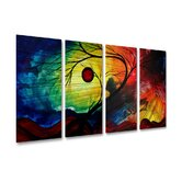 Rainbow Night Metal Wall Art