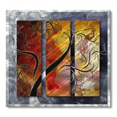 Golden Sunrise Metal Wall Sculpture