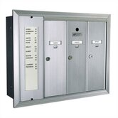 1255 Vertical Mailbox Unit With Directory and Surface Mount Collar