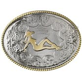 Mud Flap Cowgirl Buckle