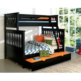 Weekends Twin Over Full Bunk Bed with Optional Trundle Bed
