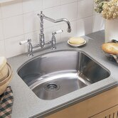"Stainless 8.5"" Steel Culinaire Undermount Single Bowl kitchen sink"