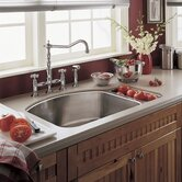 "Culinaire 8.5"" Undermount Dual Level kitchen sink"
