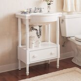Retrospect Washstand with Sink in White
