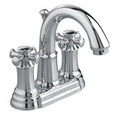 Portsmouth Centerset Bathroom Faucet with Double Cross Handles