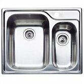 "Supreme 1.5 Bowl ""Double Single"" Drop-In Kitchen Sink"