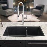 "Performa 33"" x 19"" Silgranit II 1.75 Double Bowl Undermount Kitchen Sink"
