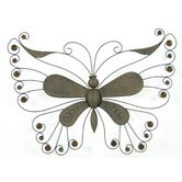 Butterfly with Brown Beads Wall Décor