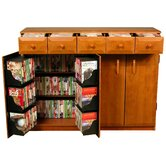 VHZ Entertainment Multimedia Cabinet with Library Style Drawers
