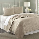 Zen Coverlet Set in Taupe