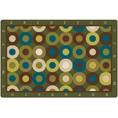 Calming Circles with Alphabet Kids Rug