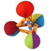 Plush Pyramid Mini Dog Toy in Multi Colored